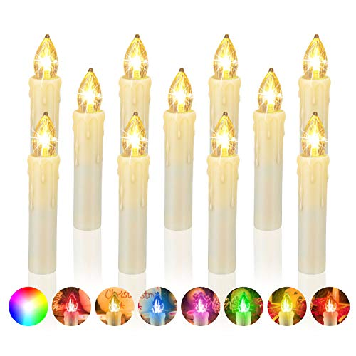 20er Set LED Stabkerzen, Flammenlose Tafelkerzen, batteriebetrieben Harry Potter Kerzen für Ostern, Party, Hochzeit, Kirche Dekorationen