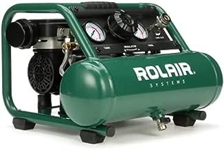 Rolair AB5PLUS 1 Gallon 0.5 HP 90 PSI Ultra Quiet Lightweight Portable Pump Electric Air Compressor