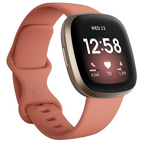 Fitbit Versa 3 - smartwatch zdrowia & aktywności fizycznej z wbudowanym systemem GPS, 24/7 pomiarem tętna, Asystentem Głosowym i żywotnością baterii aż do 6+ dni