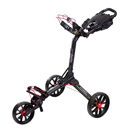 BagBoy Nitron Golf Push Cart, Black/Red