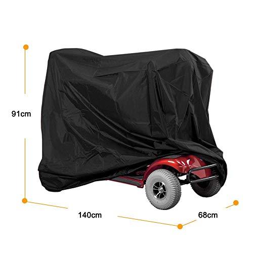 Wasserdichte Abdeckung für Elektromobil, professioneller Rollstuhl Regenschutz, 140 x 66 x 91 cm