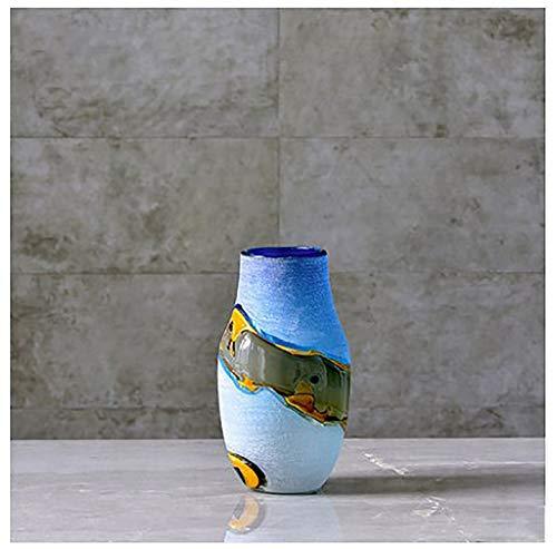Grote gekleurde vaas tafel glas woonkamer vaas arrangement