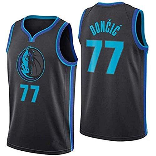 LAVATA Maglia da Basket Unisex Abito Dallas Mavericks Luka Doncic 77# Uniforme per La Nuova Stagione T-Shirt Senza Maniche