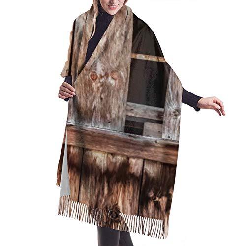 Bufanda de invierno clásica de otoño para mujer, granja de cabaña de...