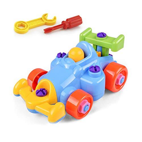 Niños desmontar Para montar el juguete del rompecabezas kart con un destornillador niños Early Learning Building Block bricolaje juguetes educativos 1 Set