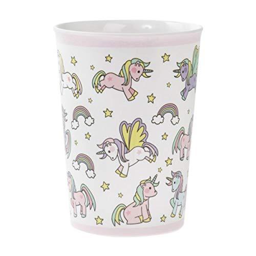 Les Trésors De Lily [Q6453 - Gobelet Enfant mélamine 'Licorne My Unicorn' Rose Blanc - 15x7.5 cm