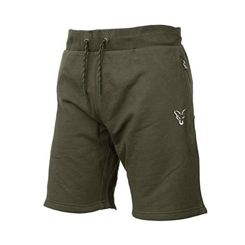 Fox Collection Green Silver LW Shorts - kurze Hose für Angler, Sporthose für Karpfenangler, Angelshorts, Anglerhose, Angelhose, Größe:XL