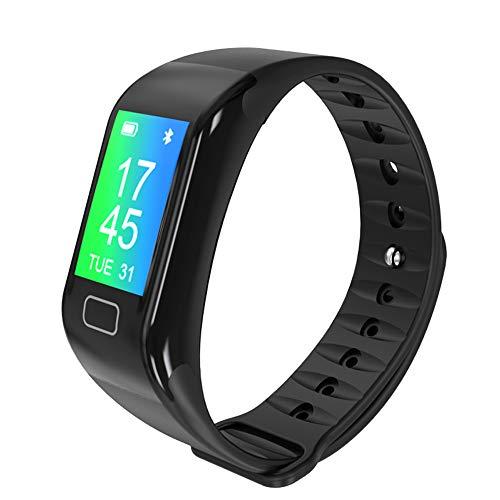 KINGSFEET Waterproof FitnessTrackers Activity Tracker Heart Rate and Blood Pressure Monitor Watch Running Watch Smart Sport Bracelet Step Counter Black