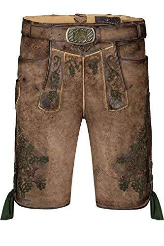 Lieblingsgwand Moser klederdracht lederen broek kort lichtbruin groen Max-Johann 004962 - gelimiteerd, materiaal