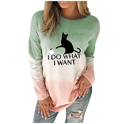 For Sale! Amlaiworld Womens Christmas Blouse Long Sleeve Sweatshirt Dyed Cartoon Snowman Printed Pul...