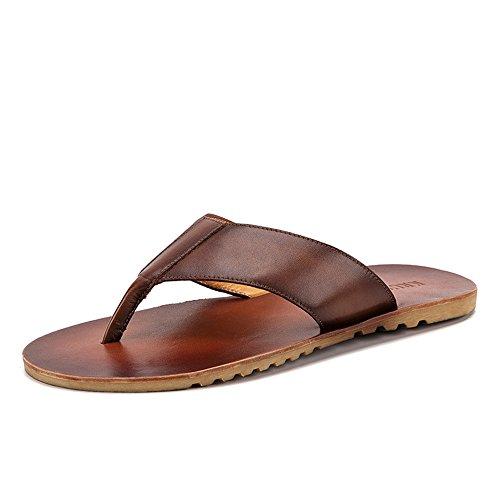 Lpinvin - Chancletas para hombre con chanclas, para uso interior y exterior, para hombre y exterior, sandalias cómodas, color claro, tamaño: 41