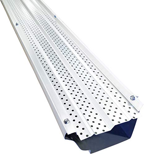 FlexxPoint High Clearance Gutter Cover System, White 5 Inch Gutter Guards, 102 Ft.