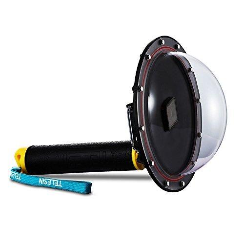 AFAITH GoPro Dome Port, Custodia Impermeabile 6 pollici con Galleggiante Impugnatura Compatibile con GoPro Hero 7 Black/Hero 6/Hero 5