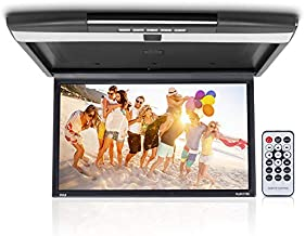 Car Overhead Monitor Screen Display - 17.3 inch. LCD Vehicle Flip Down Roof Mount Console - HDMI TV Player Control Panel w/Built-in IR Transmitter for Wireless IR Headphone - Pyle PLRV1725