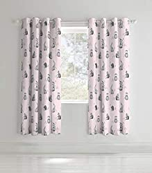 Beautifully illustrated woodland friends design on a pretty pink base Catherine Lansfield is renowned for design and style - A contemporary Great British design. The pack contains a pair of eyelet curtains. Why not complete the look with matching duv...
