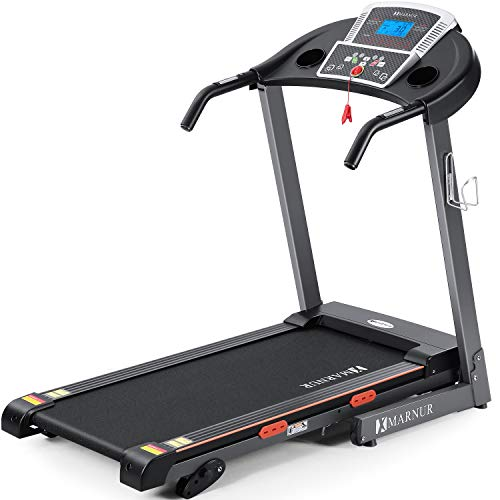 """MARNUR Electric Treadmill Foldable 17"""" Wide Running Machine 3 Levels Manual Incline 2.5 HP Power 15 Preset Program Easy Assembly Max Speed 8.5 MPH with Large Display & Cup Holder for Home Use from MARNUR"""