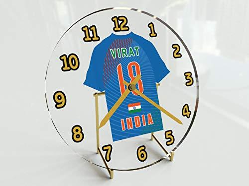 MyShirt123 International Cricket Jersey Desktop Uhren–Jeder Name, beliebige, jedes Team, kostenlose Personalisierung. India International Cricket Team