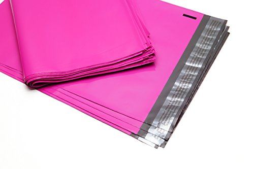 100 Folienmailer® Versandbeutel Neon-Pink C4: Farbige Plastik Versandtaschen 250x350mm, selbstklebend und blickdicht, Versandtüten aus LDPE Coex Folie, perfekt zum Versand von Kleidung und Textilien