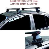 Compatible con Audi A3 Sportback 5p 2017 (68.014) Barras Rack DE Techo para Coche Barra DE 130CM para Coches con Accesorio Directo AL Techo SIN BARANDA Rack DE Techo Acero Negro