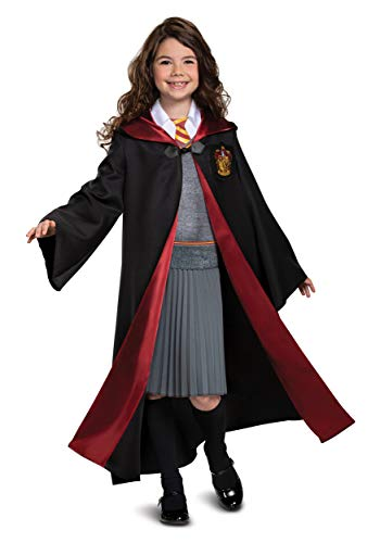 Harry Potter Hermione Granger Deluxe Girls Costume, Black & Red, Kids Size Medium (7-8)
