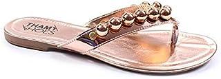 Rasteira Metalizada Thamy Shoes Specchio Feminina Em Bolas