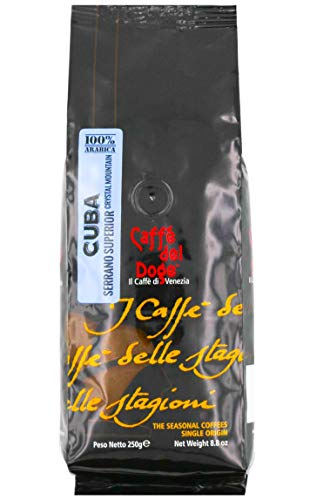 Caffe del Doge Monoarabica Kuba geröstete Kaffeebohnen 1 x 250 g Packung