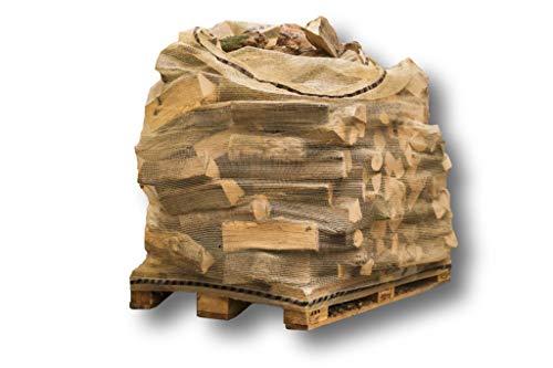 10 sacchi per legna da ardere per 1 m³ (cbm) sacchi di legno + sacchetti in legno per pallet, grandi bags resistenti ai raggi UV, molto resistenti e traspiranti, appositamente progettati