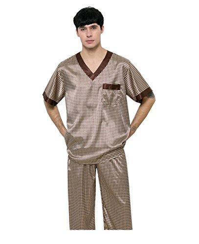 Pakamo Herren Pyjama Luxus Baden Saunakleidung Bademantel Badekleidung Schweißdampfservice Freizeit Freizeitkleidung Nachtwäsche, XL