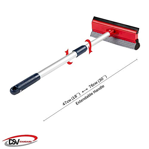 DSV Standard Professional All-Purpose Window Squeegee | 2-in-1 Window Cleaner | Dual -