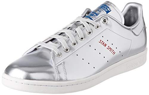 adidas Herren Stan Smith Leichtathletik-Schuh, Silver Metallic Silver Metallic Crystal White, 47 1/3 EU