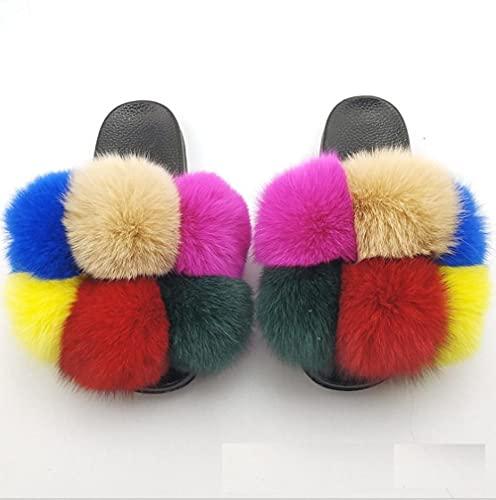 zapatillas de casa para mujer primavera,Zapatos de flush de Mao, zapatillas de lana anti-zorro de costura hecha a mano, zapatos de botas de color plana de gran tamaño, zapatos de botas de mujer, pale