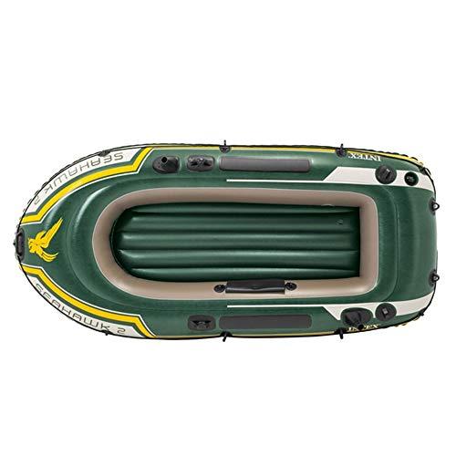 Gommone Explorer Ispessimento verde militare for inviare pagaie e pompe Barca da pesca gonfiabile for due persone 2 persone Barca a remi in gomma ( Colore : Verde , Dimensione : 236×114×41CM )