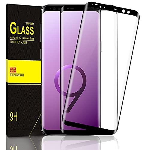 Zinking Panzerglas Schutzfolie Kompatibel mit Samsung Galaxy S9 [2 Stück], 9H Härtegrad Panzerglasfolie, Anti-Kratzen, Hydrophob und Oleophob, Reaktionsschnell Displayschutzfolie