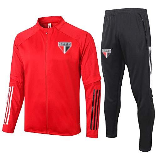 AWMSSR Fútbol Fútbol para Hombres Adultos Entrenamiento Ropa Deportiva Camiseta de fútbol Traje Deportivo de Manga Larga -979-rojo_S