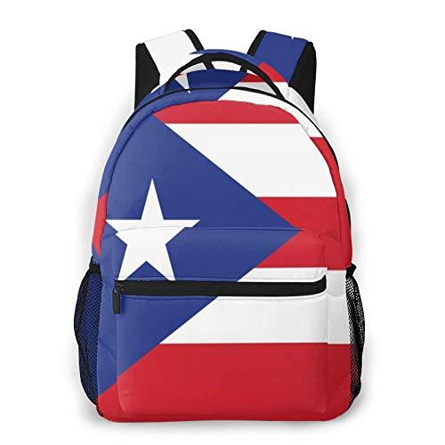 Mochilas para niños con bandera de Puerto Rico impermeable para portátiles, mochilas de viaje para la escuela, mochila de viaje para niños pequeños