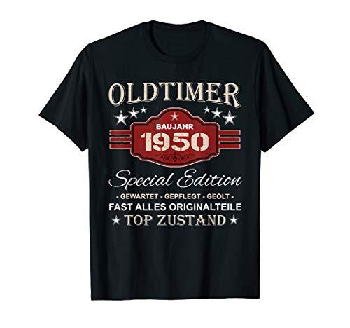 Retro Vintage 70. Geburtstag Opa Geschenk Oldtimer 1950 T-Shirt