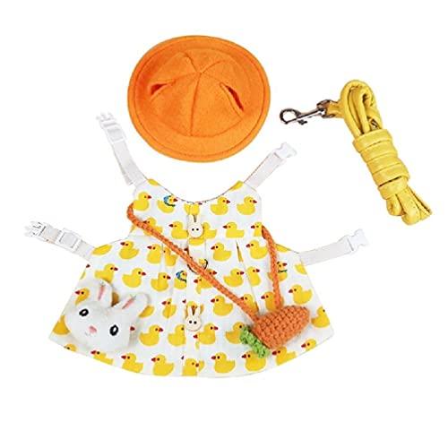 Disfraz de conejito de vacaciones, juego de arnés con sombrero y accesorio de animales pequeños para cerditos erizo S/M/L arnés de conejo y correa para caminar a prueba de escape