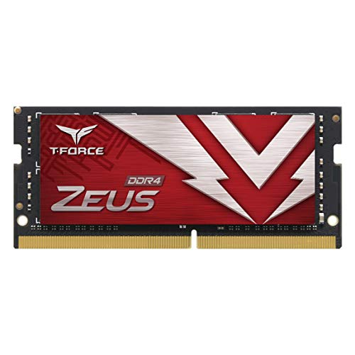TEAMGROUP T-Force Zeus DDR4 SODIMM 16GB 3200MHz (PC4-25600) 260 Pin CL16 Laptop OC Memory Module Ram - TTZD416G3200HC16F-S01