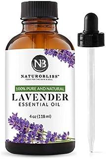 NaturoBliss Lavender Essential Oil, 100% Pure Therapeutic Grade, Premium Quality Lavender Oil, 4 fl. Oz - Perfect for Arom...