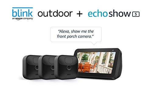 Echo Show 5 (Charcoal) with All-new Blink Outdoor- 3...