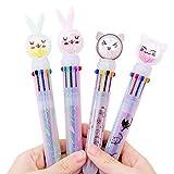 4 bunte Kugelschreiber, Büroschule, Werbungsstift, Büro-Kugelschreiber, Geschenk für Kinder