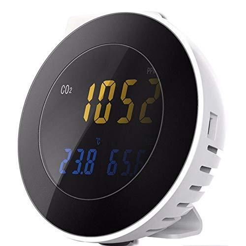 Seben HT-501 CO2 Messgerät für Raumluft mit Alarm-Funktion, Melder, Temperatur & Luftfeuchtigkeit Anzeige, Messbereich 0 bis 9999 ppm
