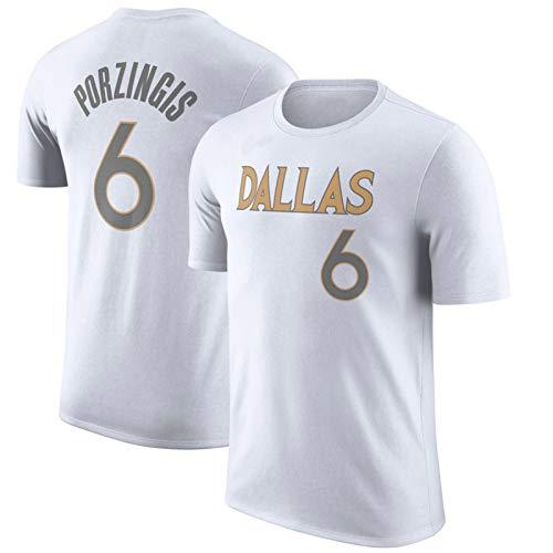 XGMJ Camiseta de baloncesto Mavericks #77 Doncic, camiseta de manga corta, telas cómodas, antiarrugas, adecuado para gimnasios y entrenamientos, regalo para fanáticos, color blanco 6-XL