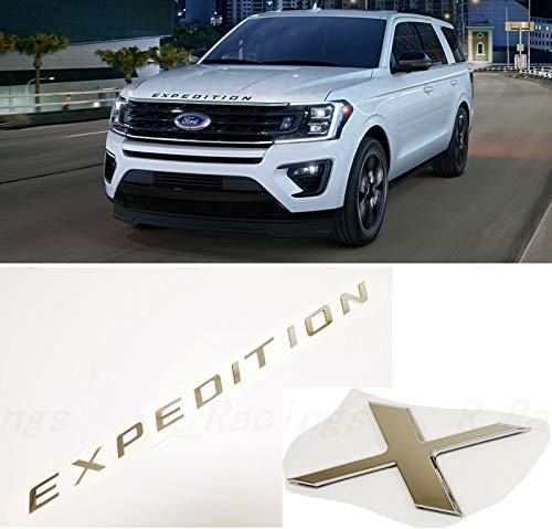 PUOU new Front Hood for EXPEDITION Letters Emblem FIT 2018-2020 EXPEDITION (silver)