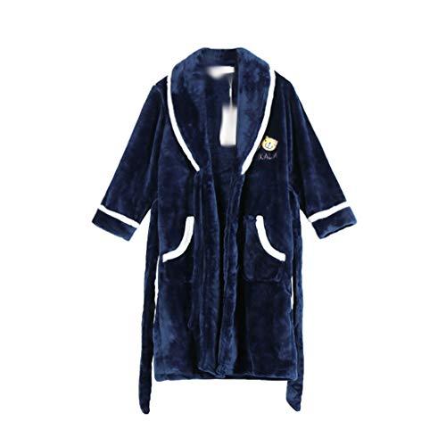ECSWP MZWJTJKD Franela de Moda Batas de baño para niños niños Suaves Ropa de Dormir impresión Pijamas Coral Terciopelo bañera (Size : 130cm)