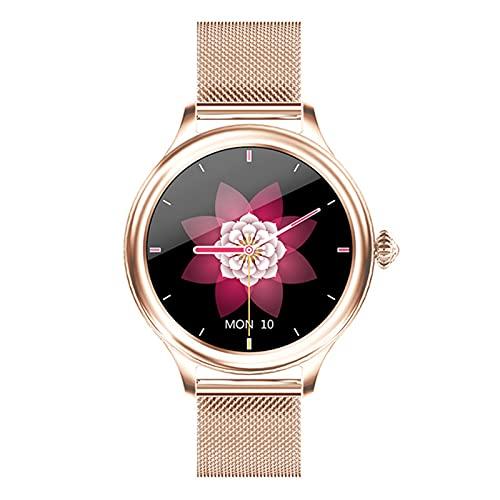 QAK Smart Watch Watch H58 Smart Watch, Schermo Circolare Completo A Ciclo Completo, Orologio Smart HM4, Cinturino da Donna Impermeabile Bluetooth per Android iOS,B
