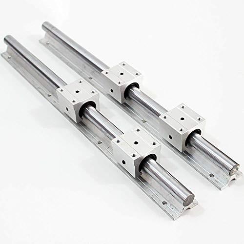 BTdahong SBR20-800/1000mm Linearführung Welle 2 Schiene 4 SBR20UU Lagerblock Metall (1000mm)