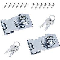 cajas de herramientas MOPOIN Cerradura vintage para puerta de armario con llave para buzones armarios 2 unidades