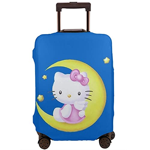 Hello Kitty - Protector de maleta de viaje único, lavable, bonito e interesante reconocimiento elástico, White, XL,