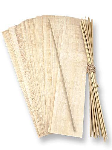 Forum Traiani Binsen Schreibset Klassensatz 30x Papyrus-Streifen 20x10cm und 30 Schreibbinsen aus Ägypten